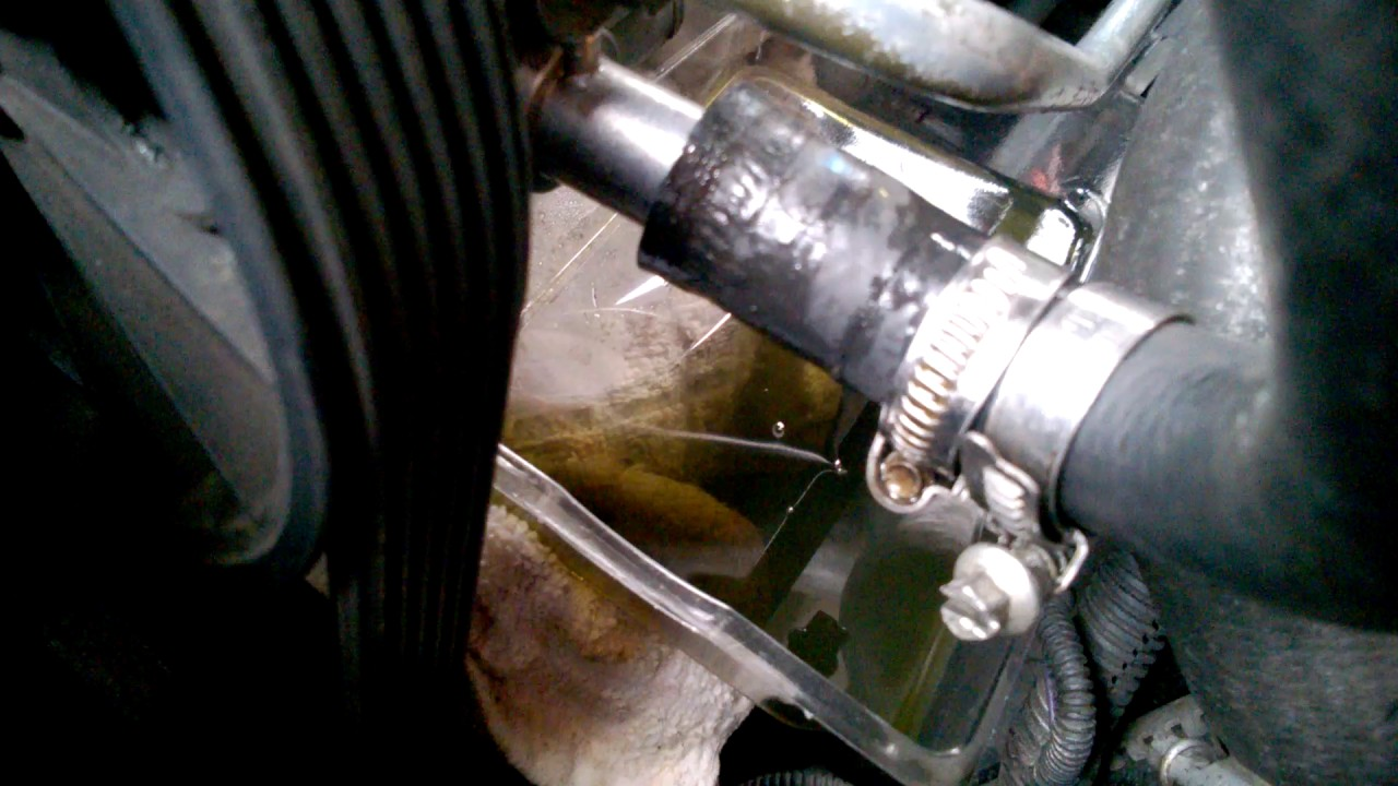 hight resolution of leaking power steering rubber hose easy fix volvo