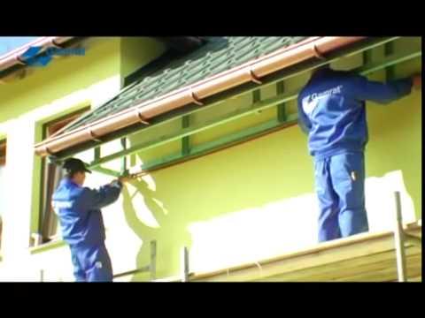 Укладка и подшивка карнизов на крыше дома