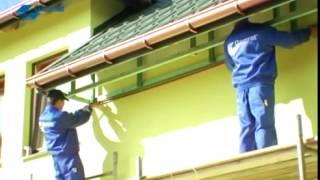 Укладка и подшивка карнизов на крыше дома(, 2014-10-04T15:22:11.000Z)