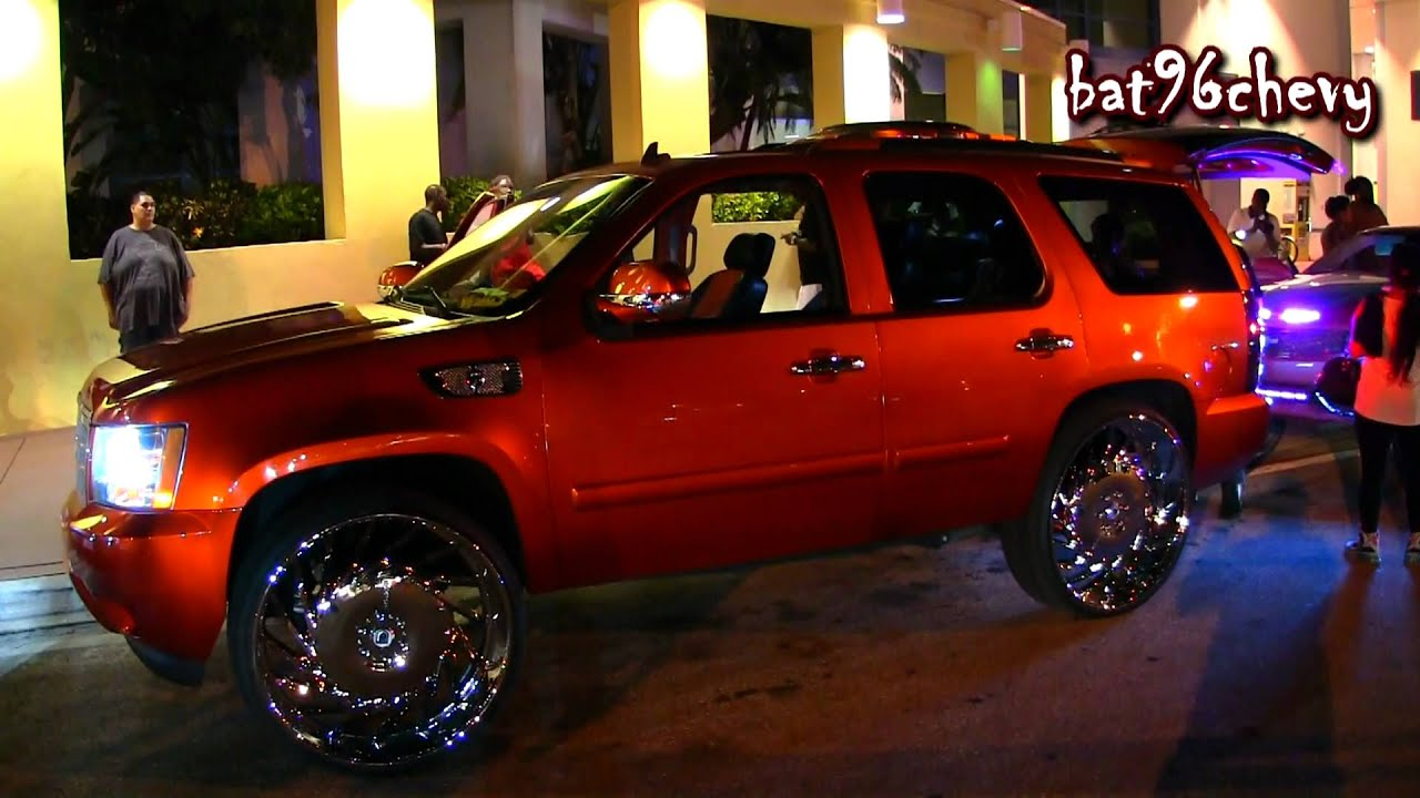 "Candy Orange Chevy Tahoe on 30"" Asantis - 1080p HD - YouTube"