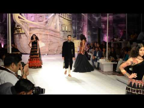 J J Vallaya's Asia Bridal Fashion Week   Black Collection