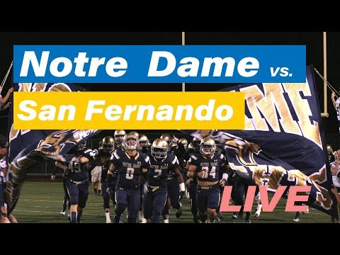 NDHS Varsity Football vs San Fernando High School  (LIVE)