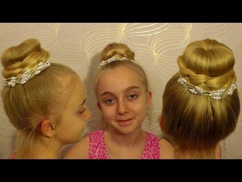 ПРИЧЁСКА с бубликом на длинные волосы #13 Прическа Бабетта