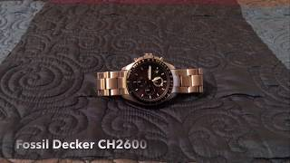 Fossil Decker CH2600 - Watch Review