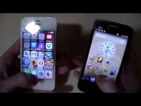Prestigio 3404 vs iPhone 4S (дизайн, игры, камера) (HD)