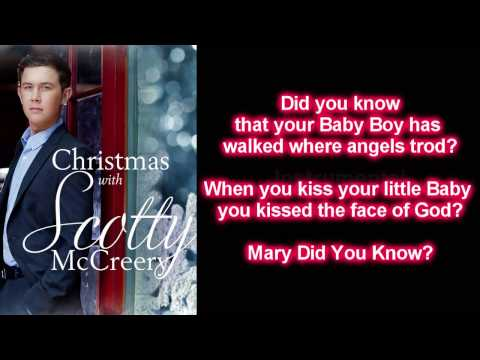 Scotty McCreery - Mary Did You Know (Lyrics)