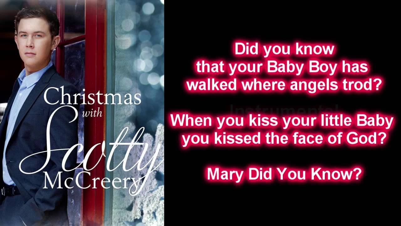 scotty mccreery mary did you know lyrics youtube - Mary Did You Know Christmas Song