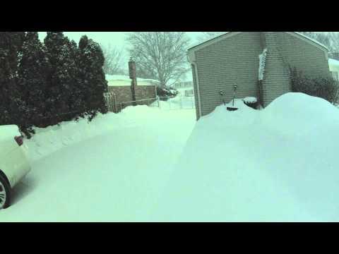 Snow Storm Feb 17-18, 2014 Sterling Heights, MI