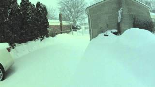 Snow Storm Feb 17-18, 2014 Sterling Heights, MI