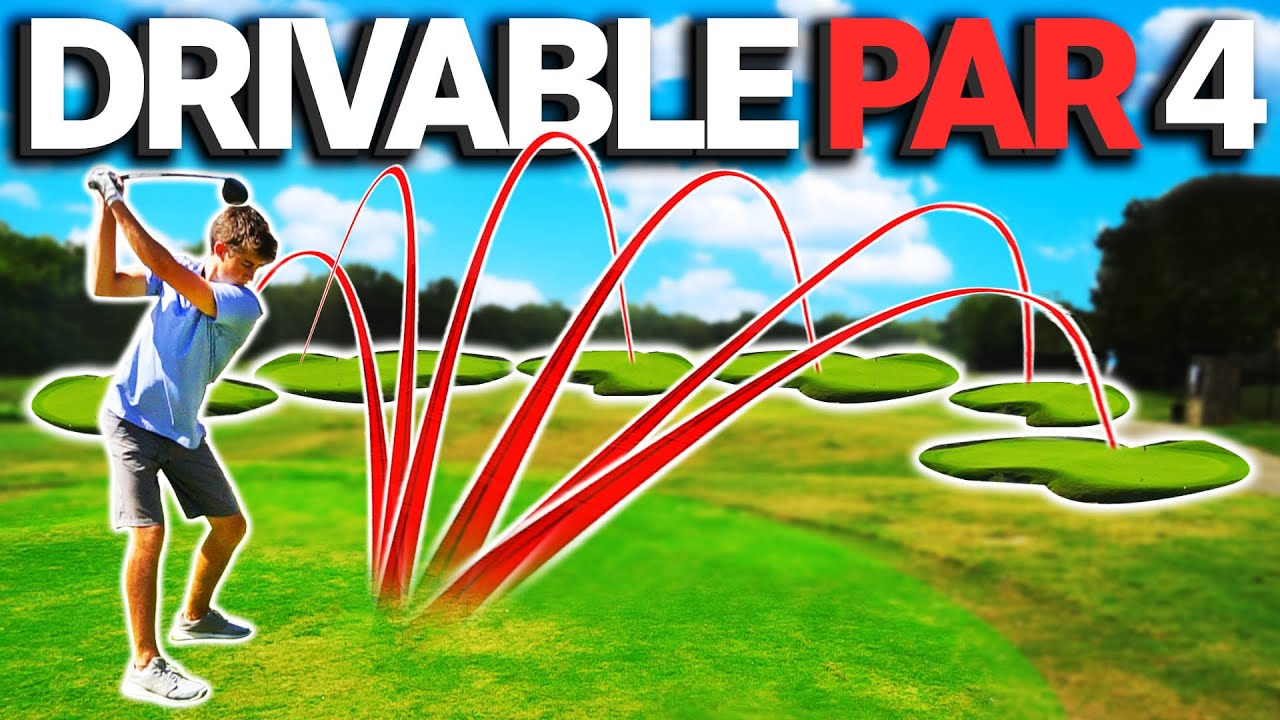 Golfing But Every Hole is a Drivable Par 4   GM GOLF