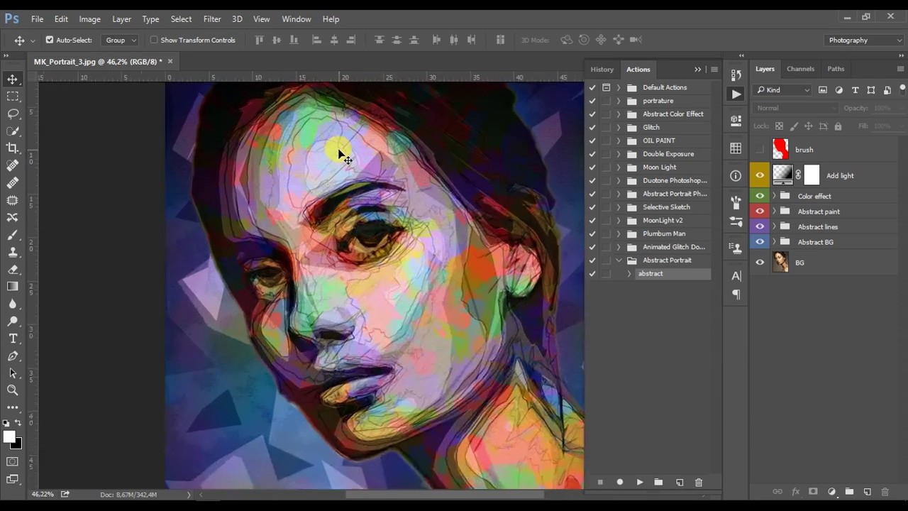 abstract portrait photoshop effect youtube