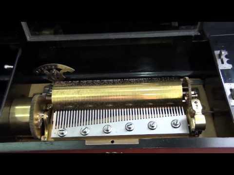 Antique swiss music box 10 tunes