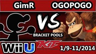 KiT 15 - Ogopogo (Donkey Kong, Pikachu) Vs. VGBC | GimR (Falco, G&W) SSB4 Pools - Smash 4 Wii U