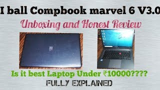 I ball Compbook marvel 6 V3 0 Budget Laptop Unboxing and Honest Review Is it best Laptop or not