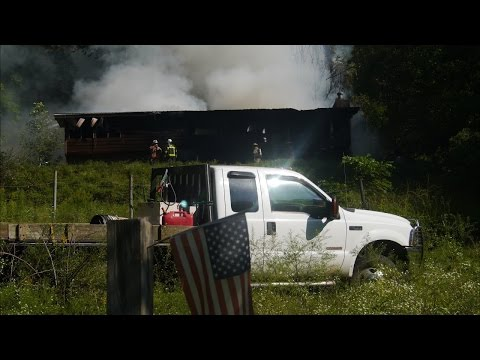 Structure Fire on Joanna Drive - Sept 2016