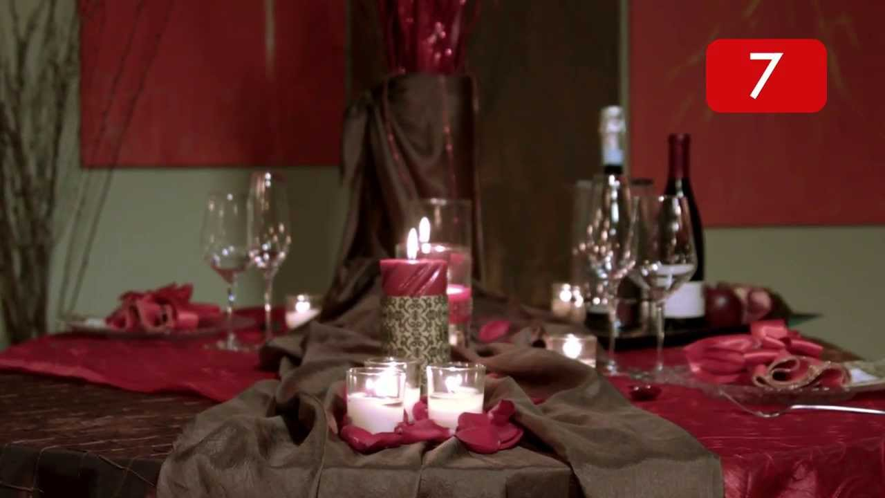 How to set a romantic dinner table for two - A Social Life Quick Tip Romantic Table Setting For Two