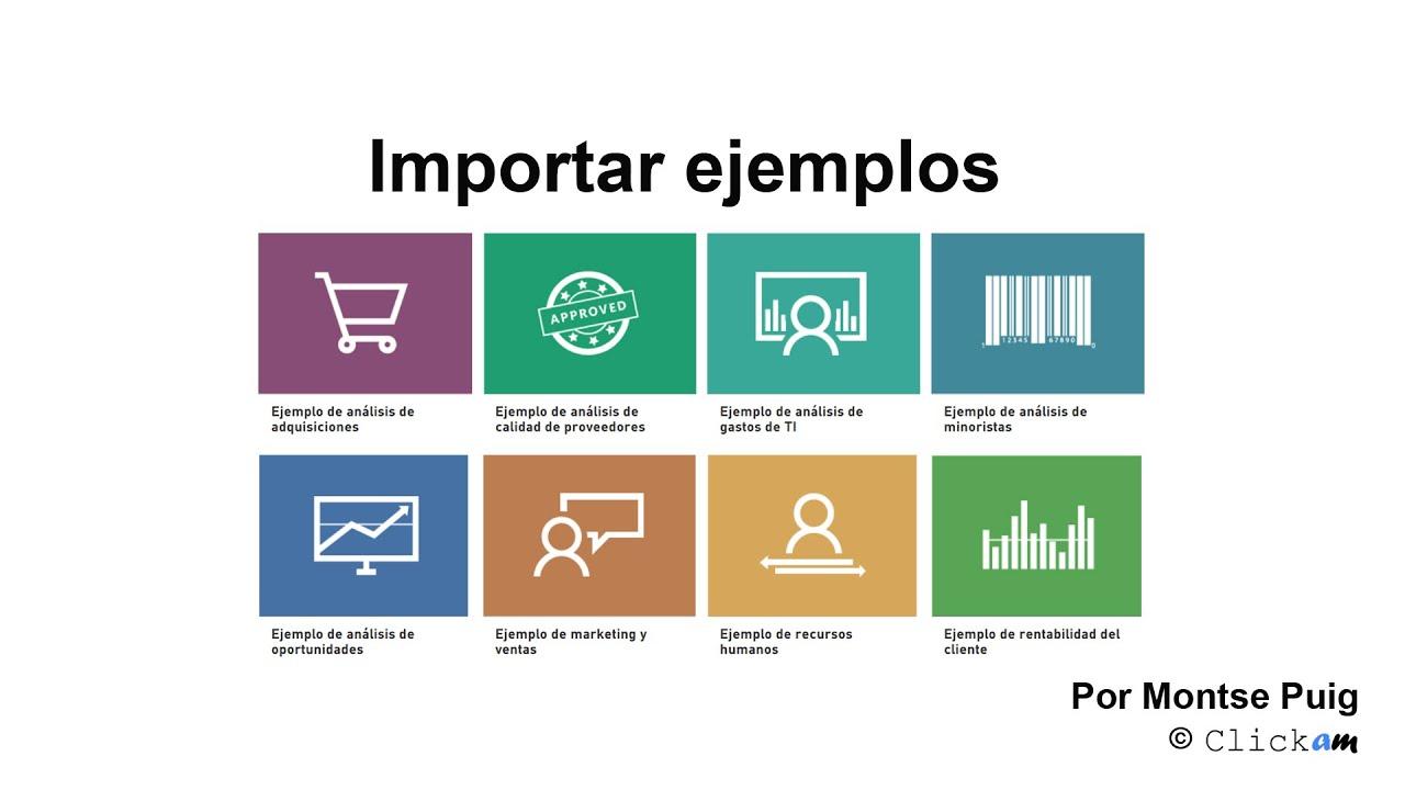 Importar ejemplos de cuadros de mando en Power BI (Español) - YouTube