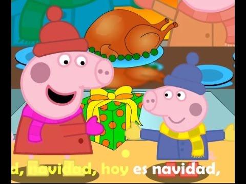 Peppa pig en espa ol navidad pintando un cuadro de for Cuadros de navidad