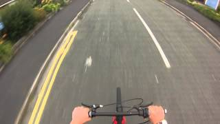 Motorized bicycle ride with GoPro HD 3