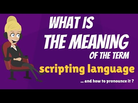 What is SCRIPTING LANGUAGE? What does SCRIPTING LANGUAGE mean? SCRIPTING LANGUAGE meaning