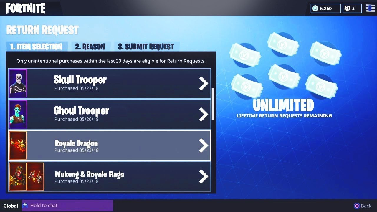 HOW TO REFUND *UNLIMITED* SKINS in Fortnite SEASON 6