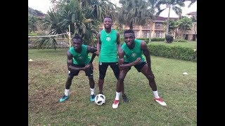 2018 World Cup: Super Eagles Foot volley training at the Eagles hotel