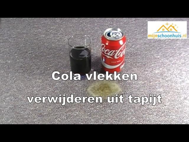 Cola vlekken verwijderen uit tapijt