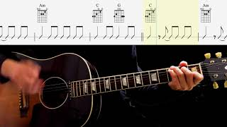 Guitar TAB : From Me To You (Rhythm Guitar) - The Beatles
