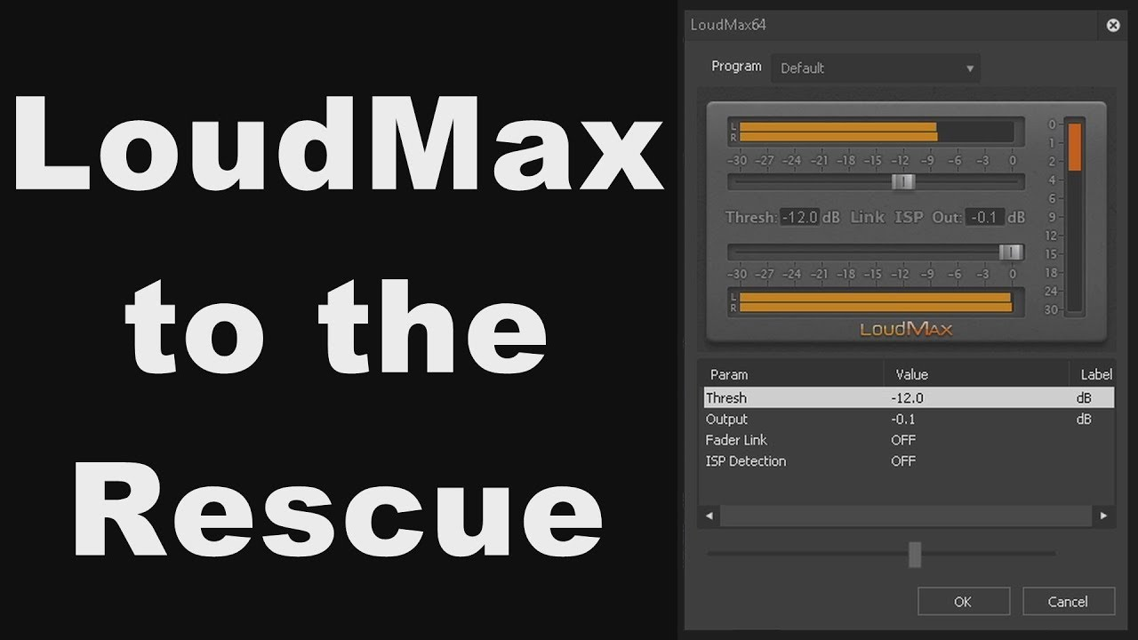 Using the LoudMax VST Limiter Plugin to Gain and Increase the Output Volume  of a Low Level Recording