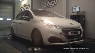 Peugeot 208 1.6 bluehdi 75cv Reprogrammation Moteur @ 127cv Digiservices Paris 77 Dyno