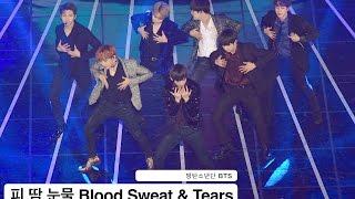 방탄소년단 BTS[4K직캠]피 땀 눈물 Blood Sweat & Tears@161116 Rock Music Resimi