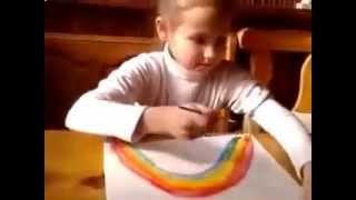 как нарисовать радугу(Вам понадобится гуашь и будем рисовать радугу,солнышко и птичек. Смотрите видео рисуем сами., 2014-10-14T20:20:45.000Z)
