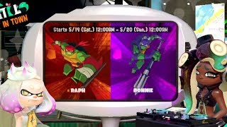 SPLATFEST RAPH VS DONNIE W/ KANINJA
