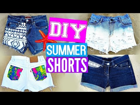 diy-shorts-from-jeans- -easy-diy-clothes-for-summer