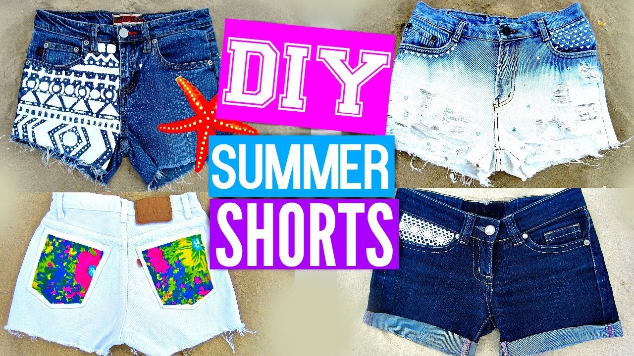 DIY Shorts from Jeans | EASY DIY Clothes for Summer - YouTube