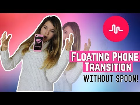 MUSICAL.LY FLOATING PHONE TRANSITION WITHOUT SPOON ITA - TELEFONO VOLANTE! || Valeria Vedovatti