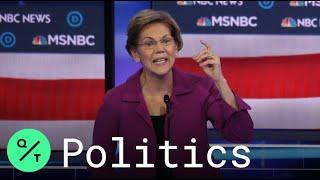 Warren Lays Into Klobuchar, Buttigieg at Democratic Debate in Las Vegas