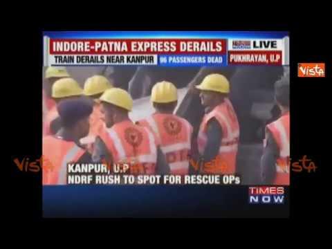 India, terrificante deragliamento di un treno: più di 100 morti