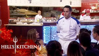 Santos Goes Overboard Describing The Menu To Guests | Hell's Kitchen