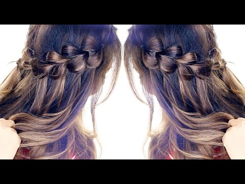 Hairstyle: Pull-Through WATERFALL BRAID Hairstyle