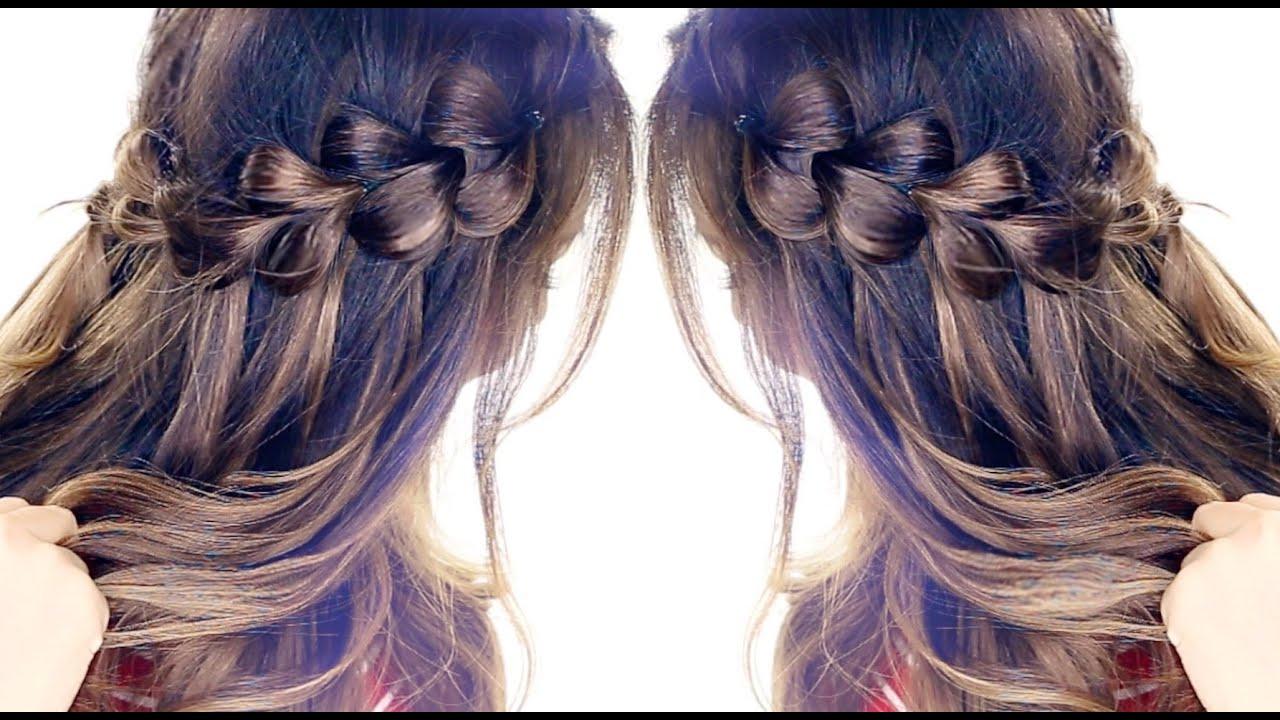 pull-through waterfall braid hairstyle ☆ easy hairstyles
