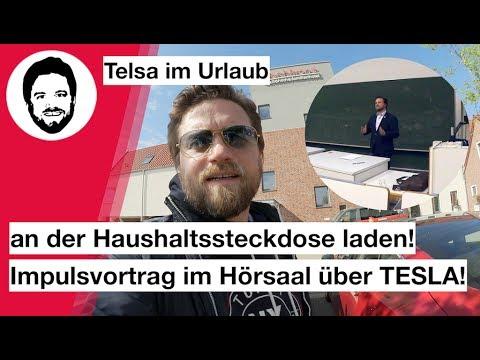 Mit Tesla im Urlaub an Haushaltssteckdose laden - Impulsvortrag im ...