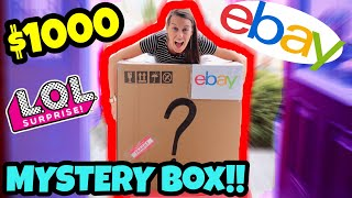 We bought a $1000 EBAY MYSTERY BOX filled with LOL SURPRISE MERCHANDISE & TOYS!!!! (OMG!!)