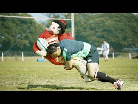 広瀬すずもびっくり、五郎丸選手が樹木希林に強烈タックル!? フジカラー新CM「あの人と写真で」篇&メイキング映像