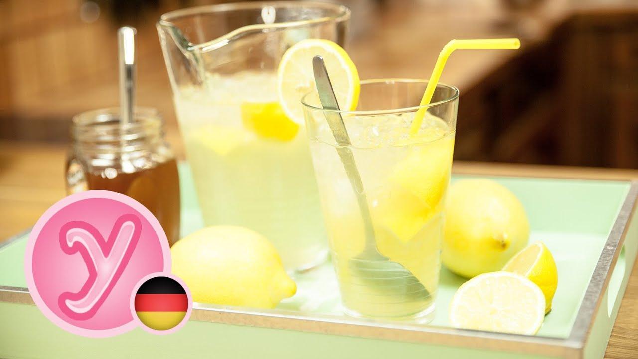 Erfrischendes ZITRONEN-HONIG-GETRÄNK für den Sommer! - Limonade ...