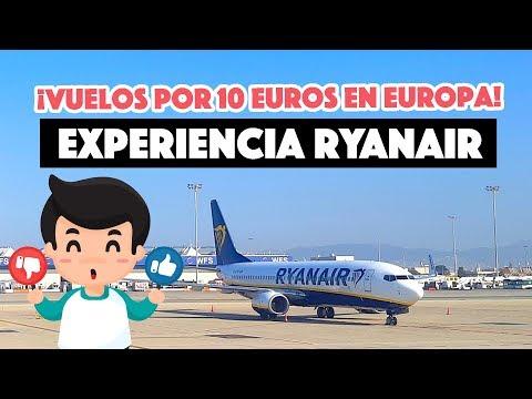 Vuelos por 10 euros en Europa con Ryanair - ¿Cómo son?
