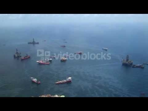 bp oil spill ground zero with support vessels 43b77mpoe