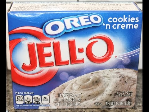 JELL-O Oreo Cookies 'n Creme Instant Pudding Review