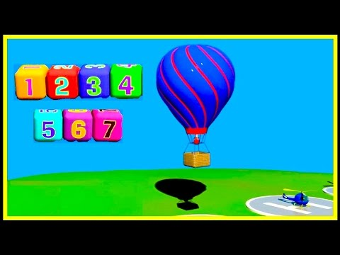 HOT AIR BALLOON : Learn Simple Numbers : Cartoon Airport Demo (1-7) Construction Game! 5