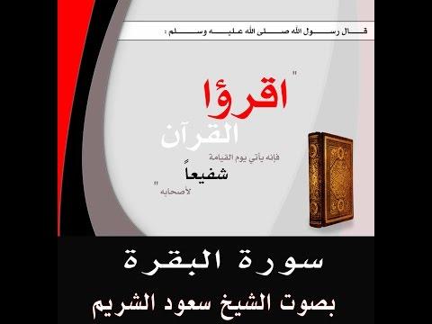 سورة البقرة للشيخ سعود الشريم (ساعة)
